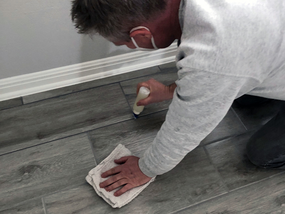Sealing Grout on Floor