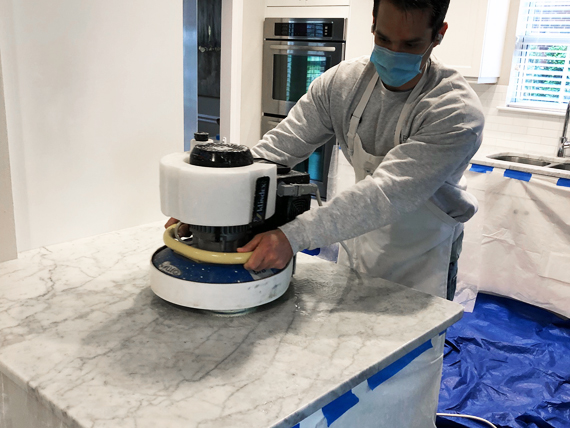Honing Marble Counter